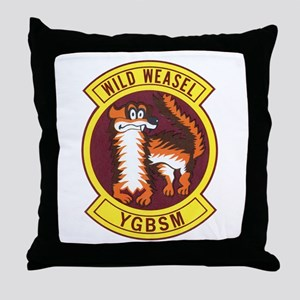 Wild Weasel Throw Pillow